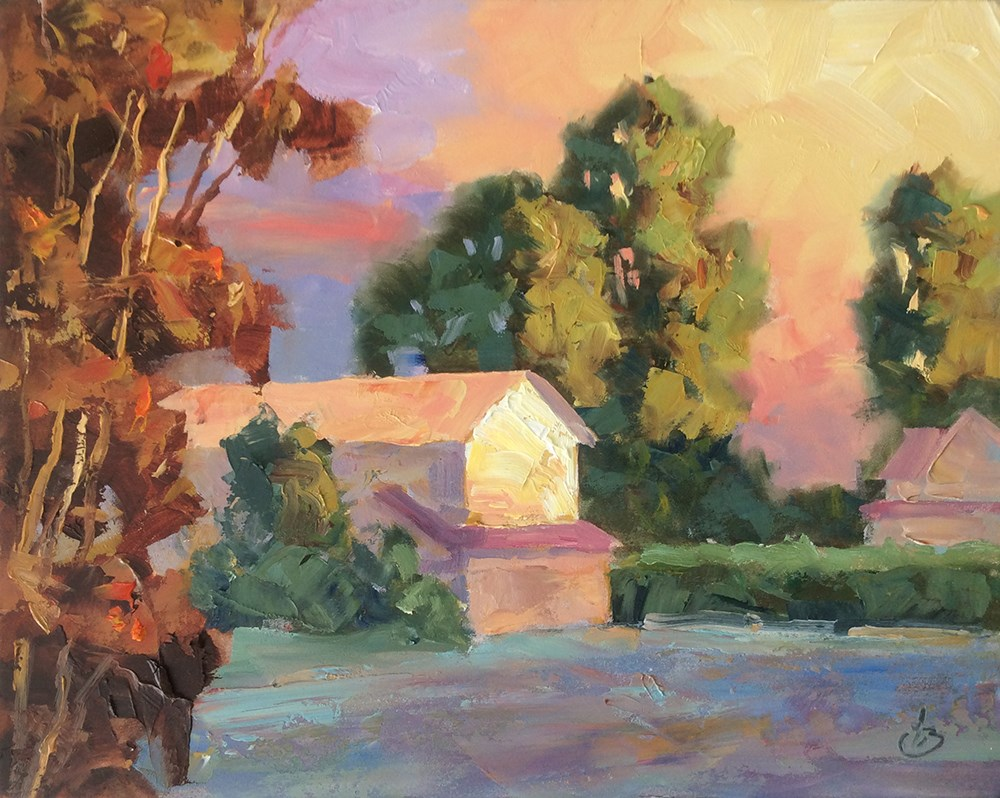 """EARLY MORNING LIGHT"" original fine art by Tom Brown"