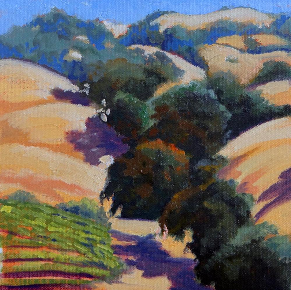 """Hills of Oaks"" original fine art by Nancy Paris Pruden"