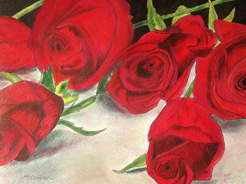 """Red Rose Redux"" original fine art by Arlene Crafton"