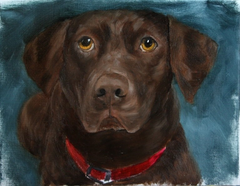 """Bailey"" original fine art by Mary Datum"