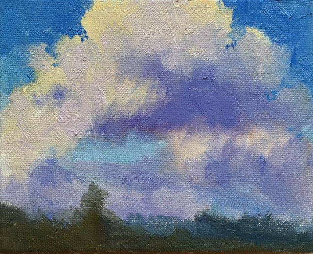 """Ten Tiny Cloudscapes #4"" original fine art by Victoria  Biedron"