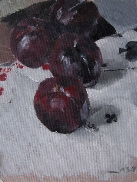 """Plums"" original fine art by Richard Jones"