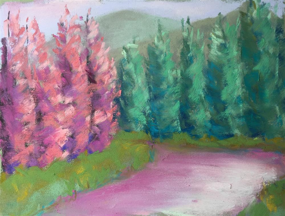 """Gore Creek 5"" original fine art by Sandi Miller"