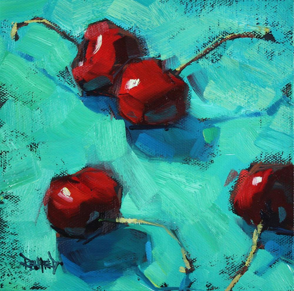 """Ottanio and Cherries"" original fine art by Cathleen Rehfeld"