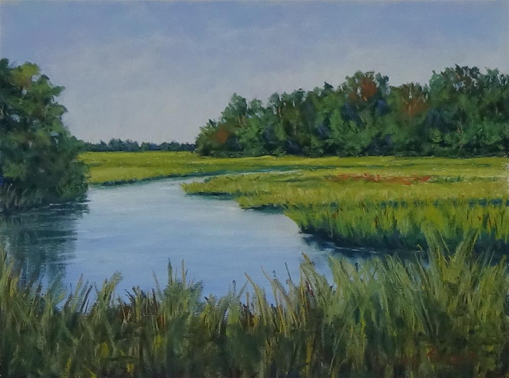 """Autumn Marsh"" original fine art by Darla Brock"