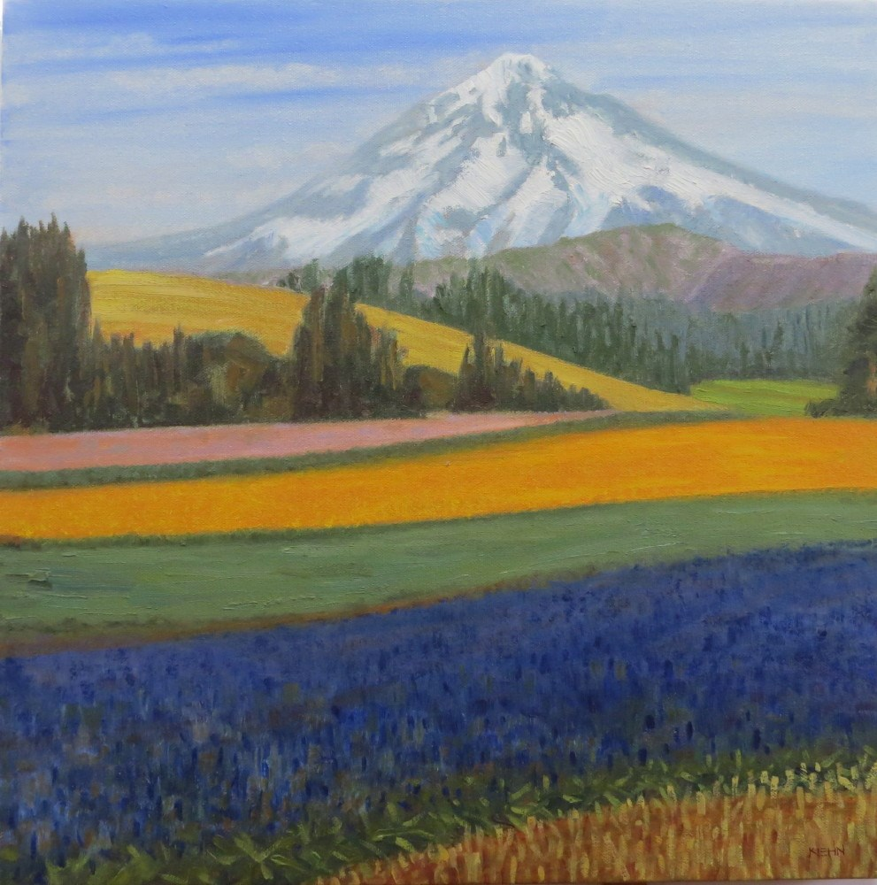 """Mount Hood"" original fine art by Richard Kiehn"