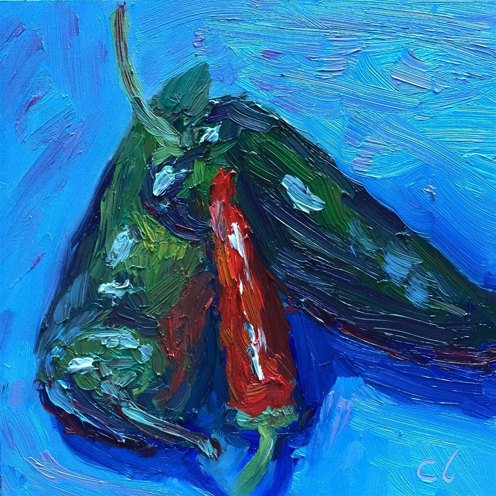 """Hot Peppers"" original fine art by Cheree Apalona Lueck"