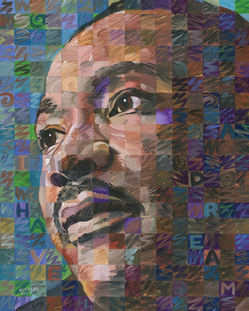 """Martin Luther King Jr. #2"" original fine art by Randal Huiskens"