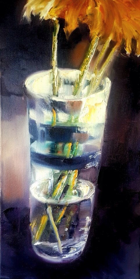 """The vase"" original fine art by Rentia Coetzee"