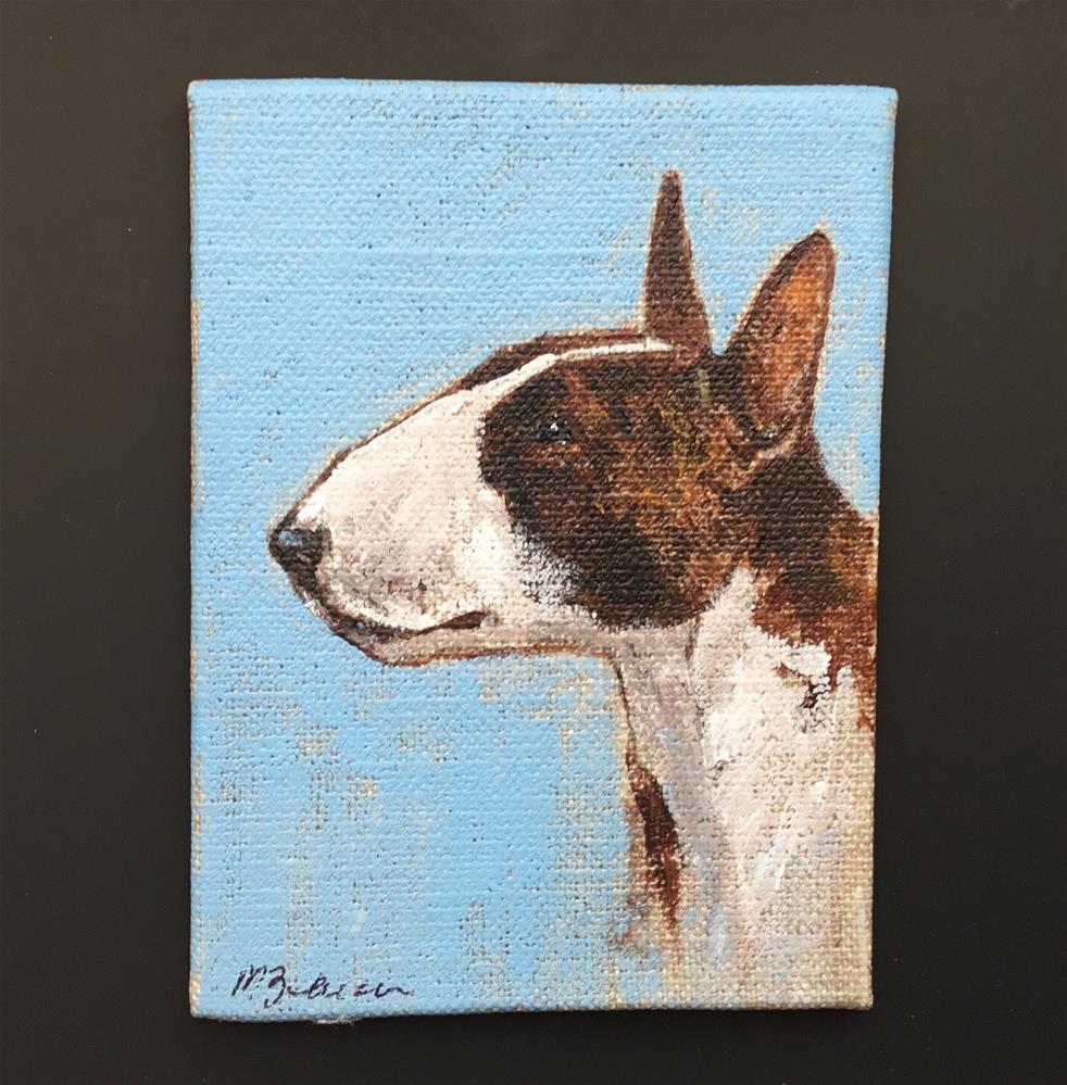 """Bull Terrier"" original fine art by Mary Beacon"