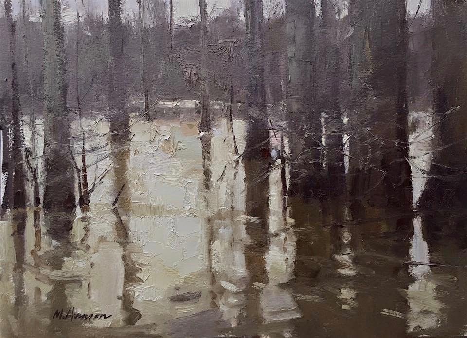 """Cypress Shapes"" original fine art by Marc Hanson"