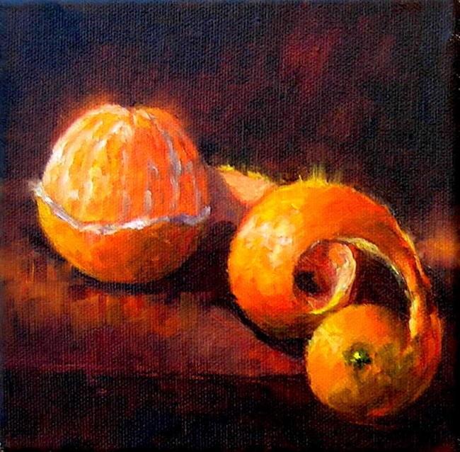 """Half Peeled"" original fine art by Irina Beskina"