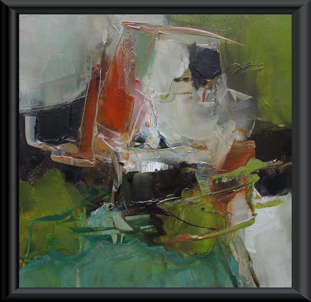 """ORIGINAL ABSTRACT ART 6 x 6 Painting OIL"" original fine art by Colette Davis"