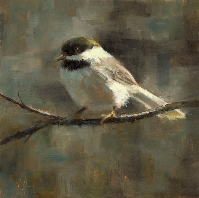 """Black-Capped Chickadee"" original fine art by Linda Jacobus"
