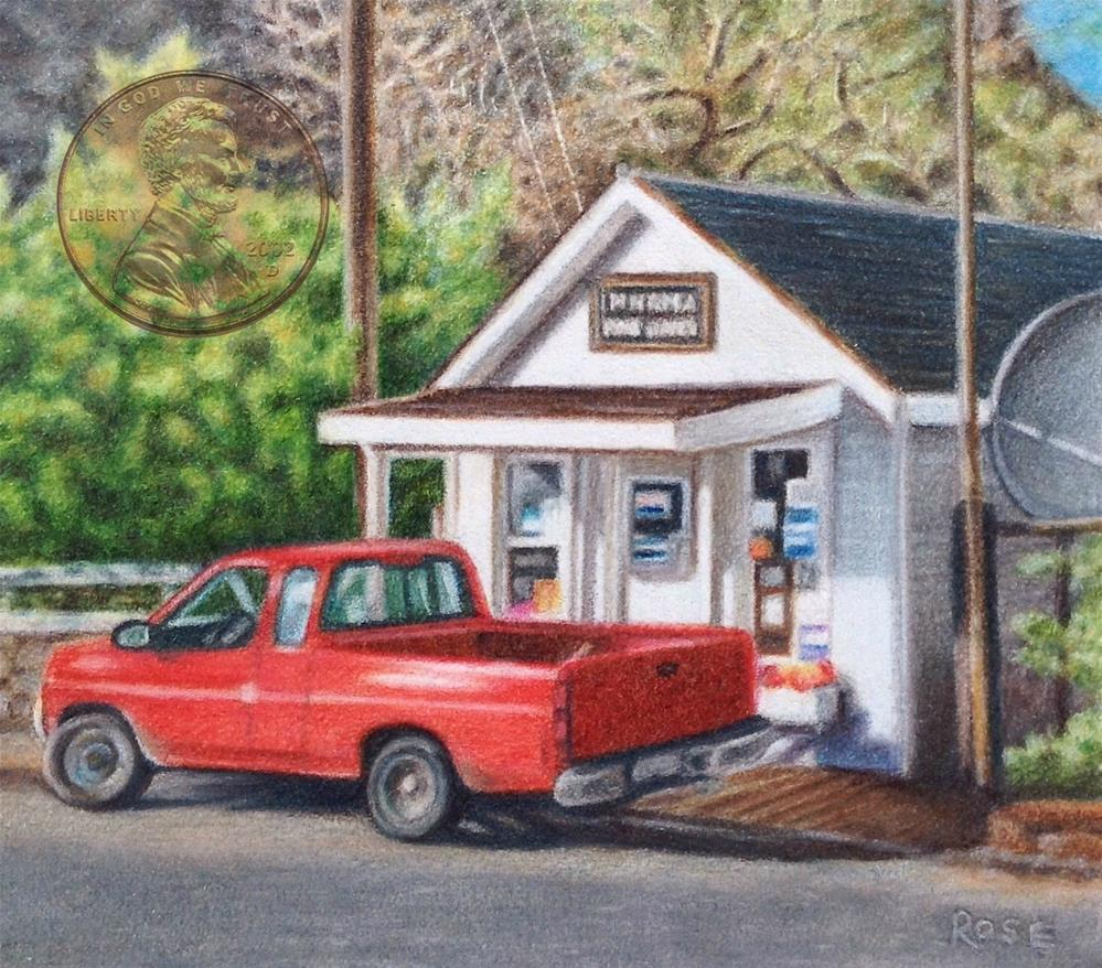"""Pickup at the Imnaha P.O."" original fine art by Heidi Rose"