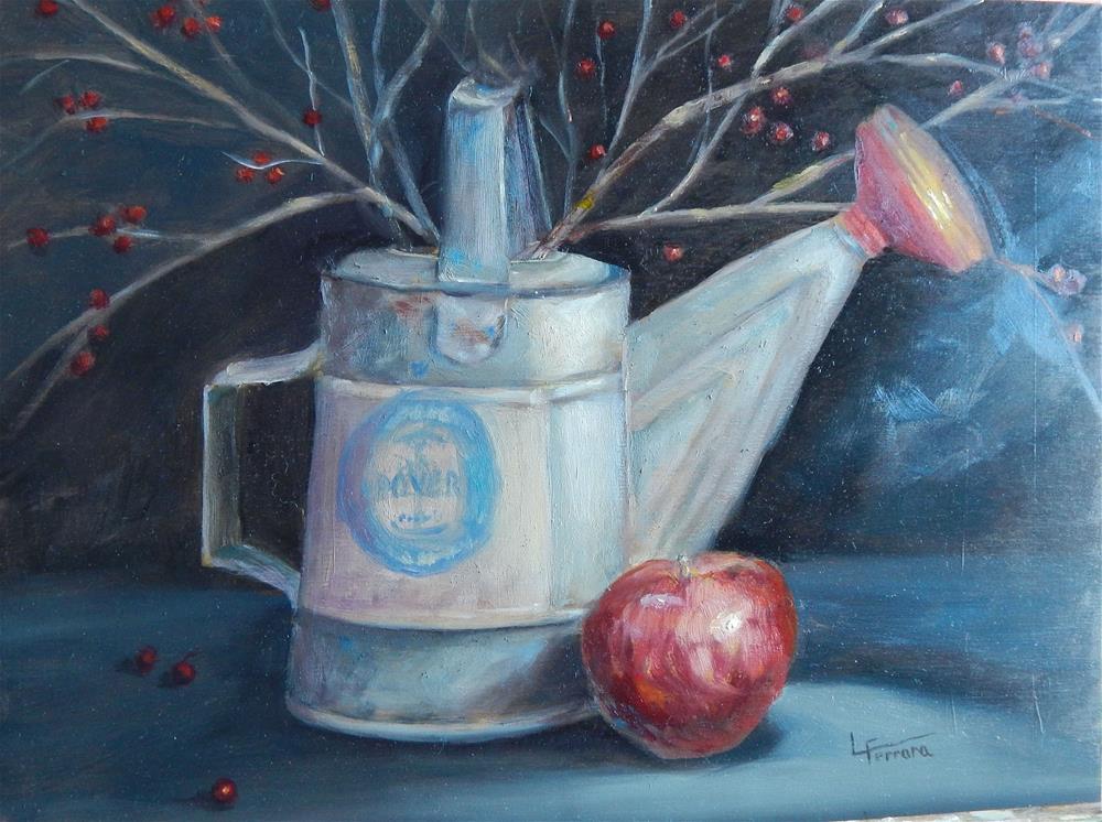 """Can d Apple"" original fine art by Lina Ferrara"