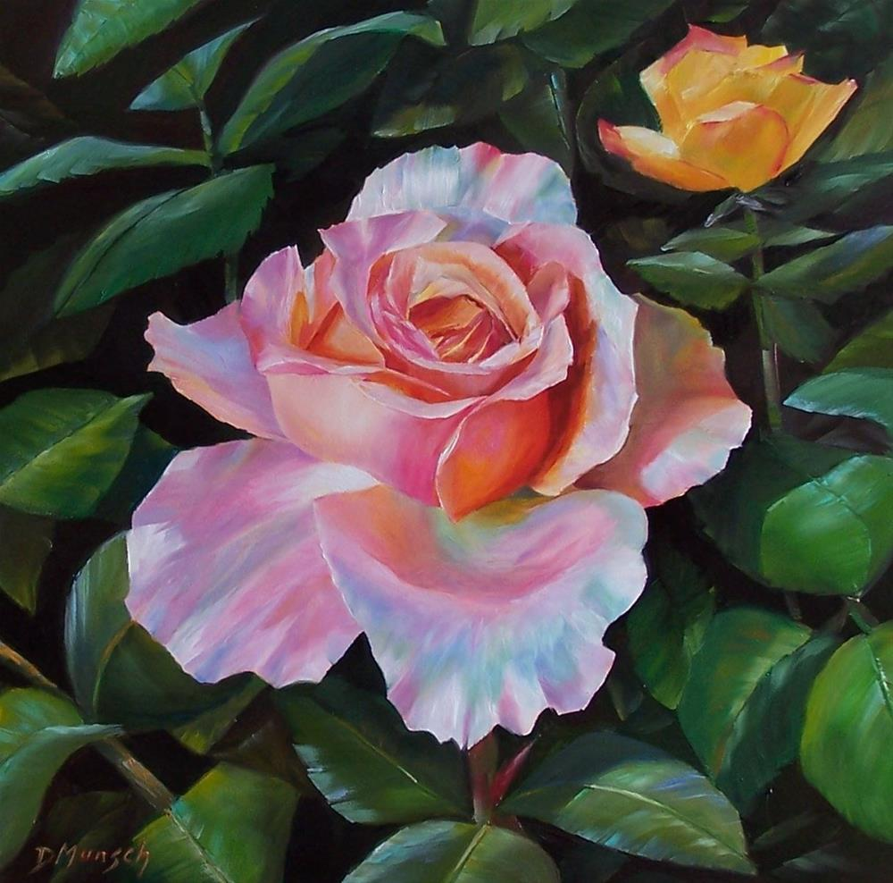 """Little Big Rose"" original fine art by Donna Munsch"