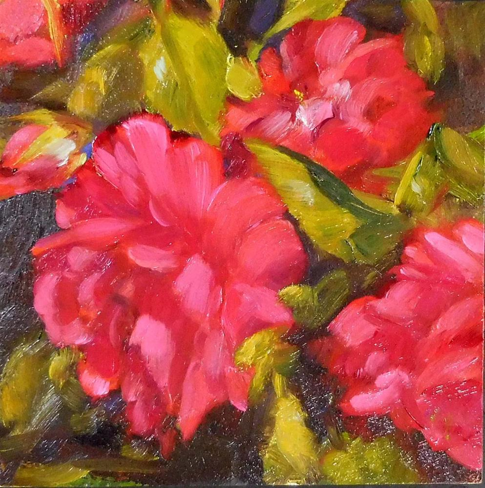 """Crimson Roses"" original fine art by Cietha Wilson"