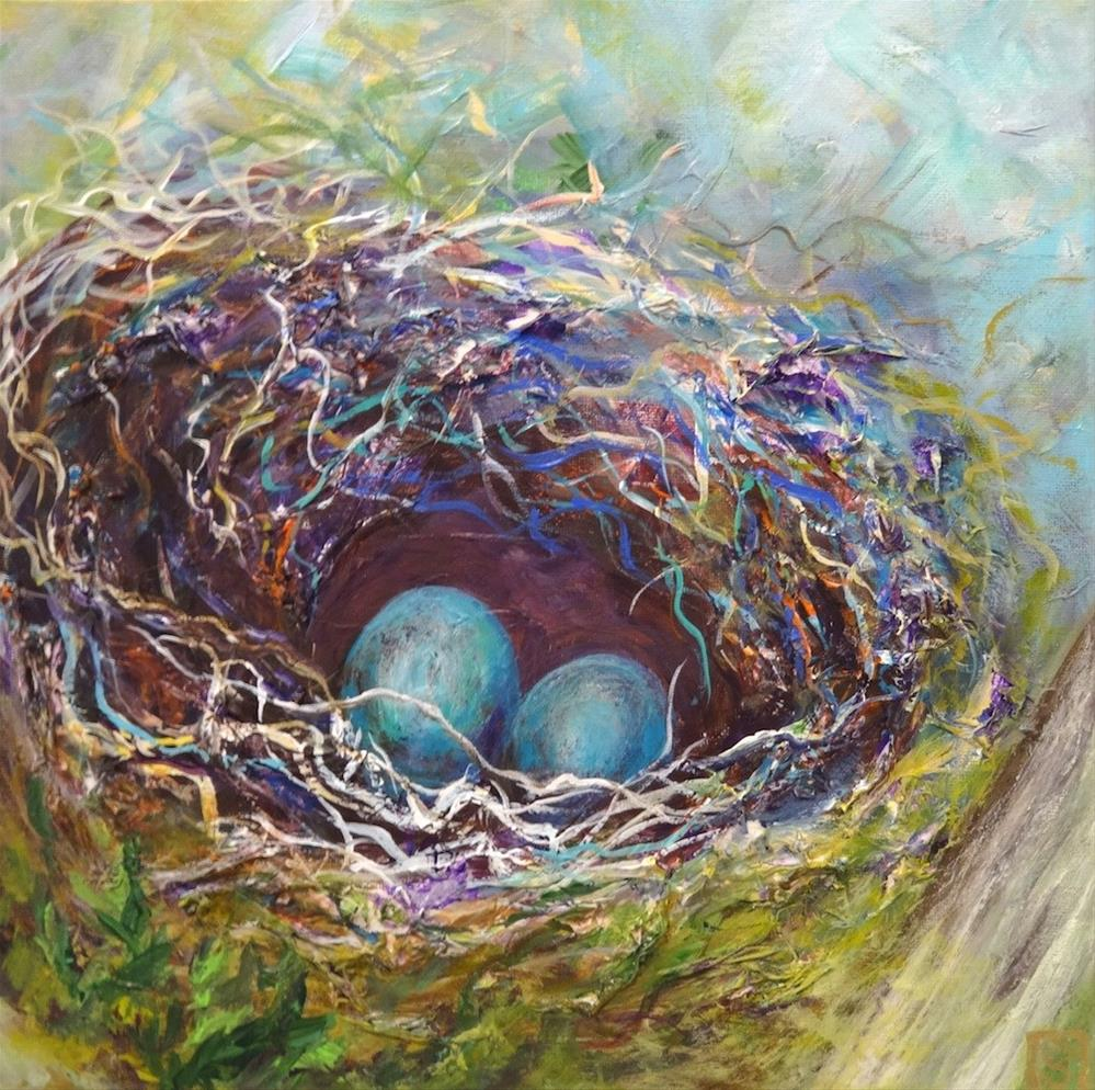 """5041 - A Nest for Two - Collaboration"" original fine art by Sea Dean"