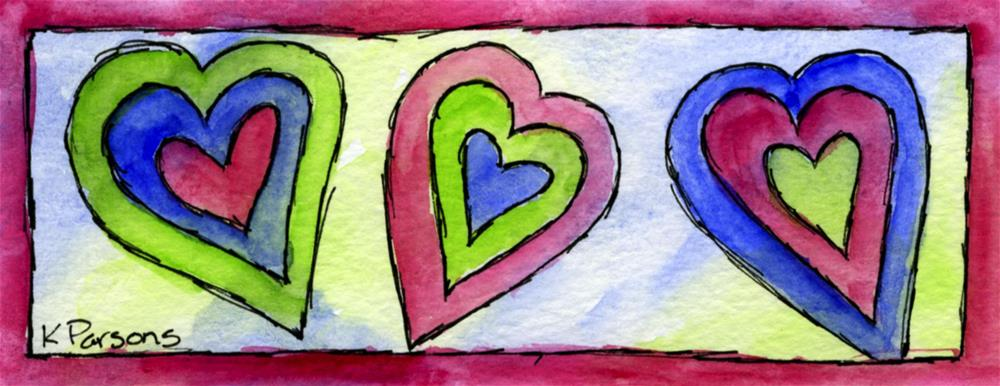 """Heart Trio"" original fine art by Kali Parsons"