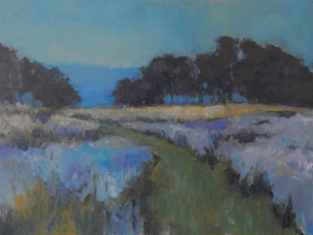 """Meadow Nocturne"" original fine art by Lisa Kyle"