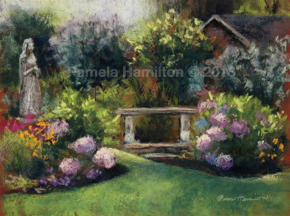 """Garden of Mary"" original fine art by Pamela Hamilton"