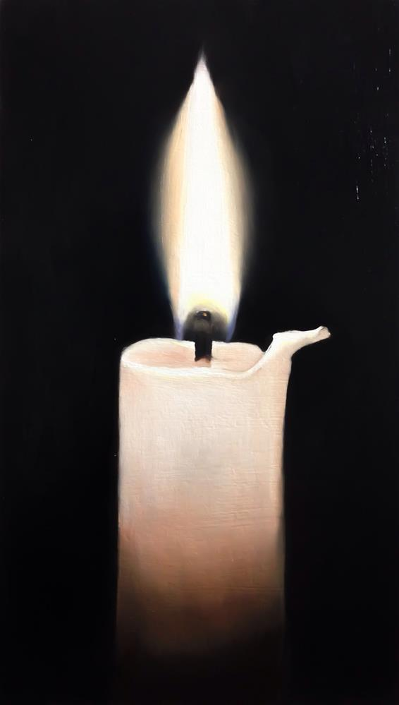 """A Candle"" original fine art by James Coates"