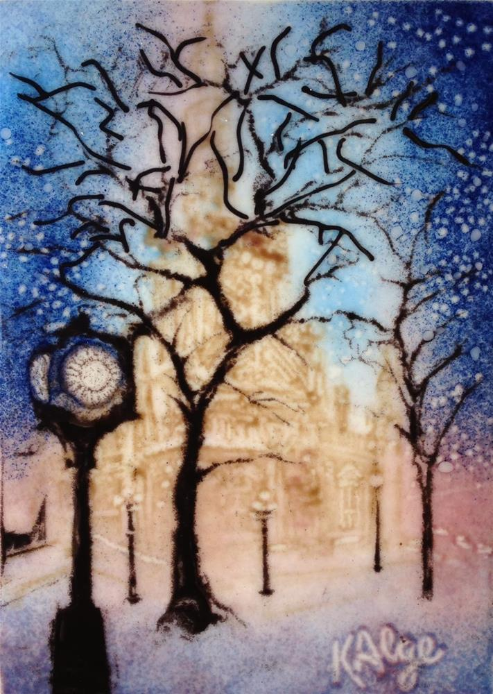 """Water and Winter (and a chance to win each month for a year!)"" original fine art by Kelly Alge"