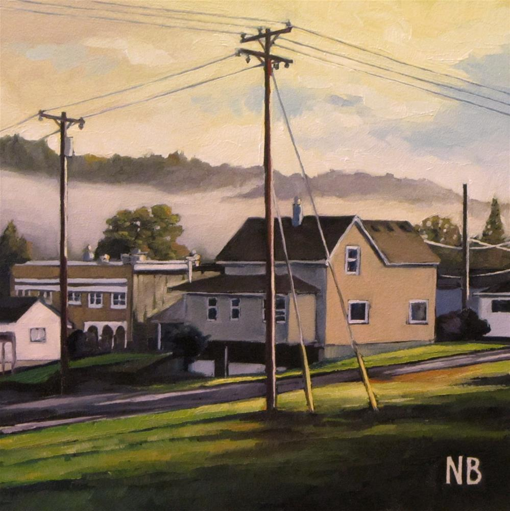 """Downtown Fog"" original fine art by Nora Bergman"
