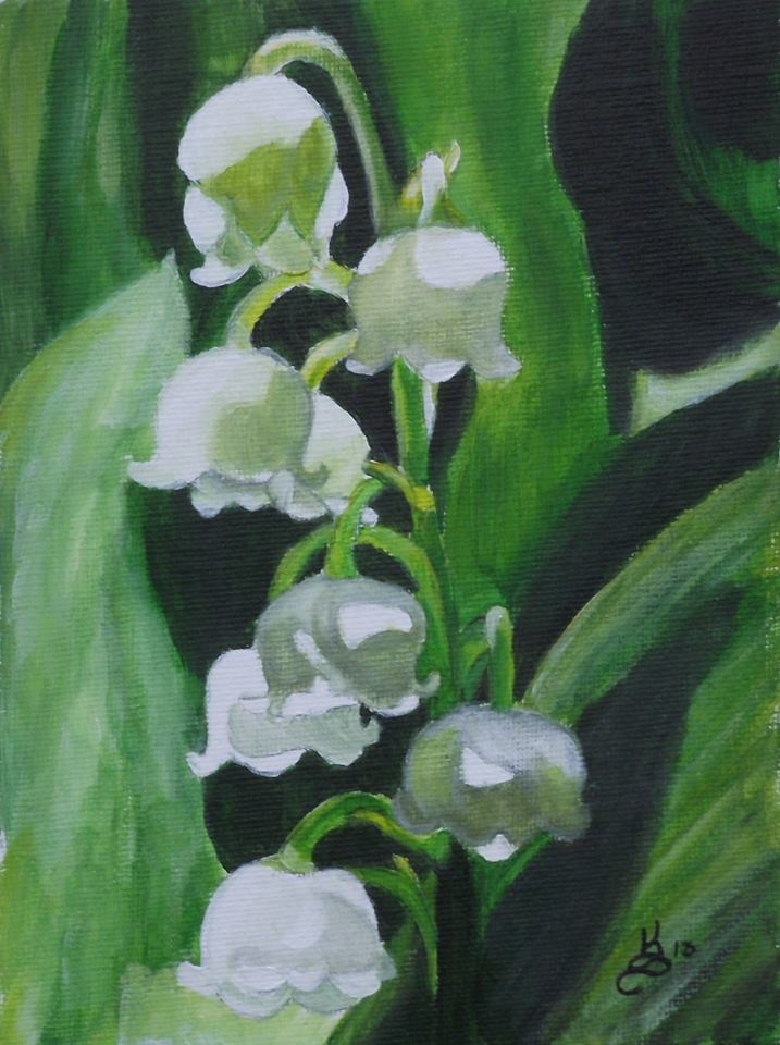 """Lily of the valley"" original fine art by Kim Selig"