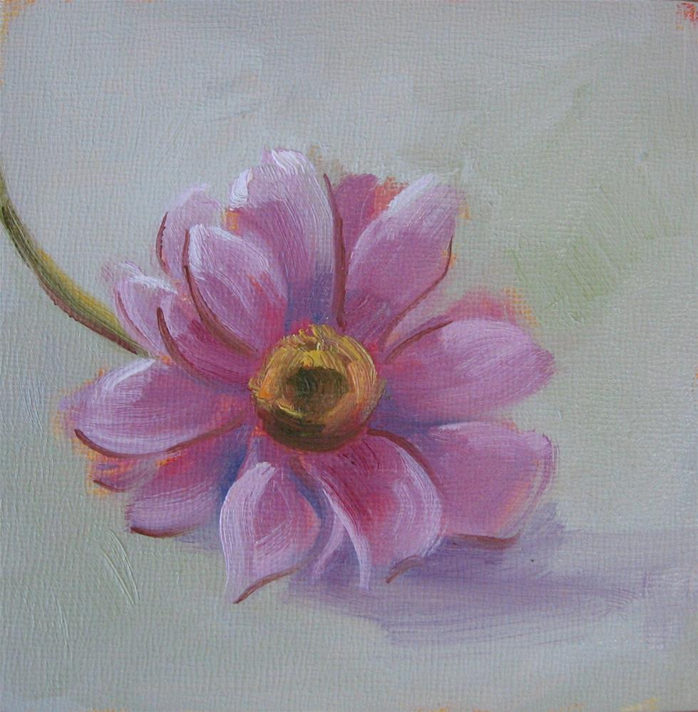 """Soft Petal: Purple Daisy"" original fine art by Maresa Lilley"