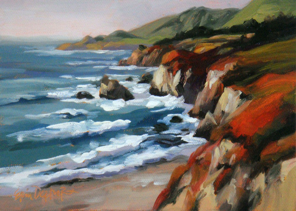 """Captivating California"" original fine art by Erin Dertner"