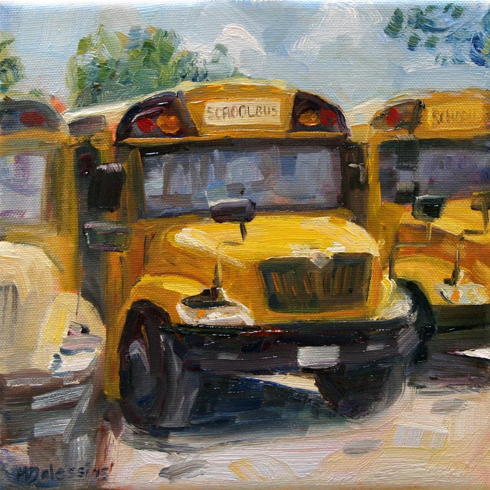 """American schoolbus"" original fine art by Miranda Dalessi"