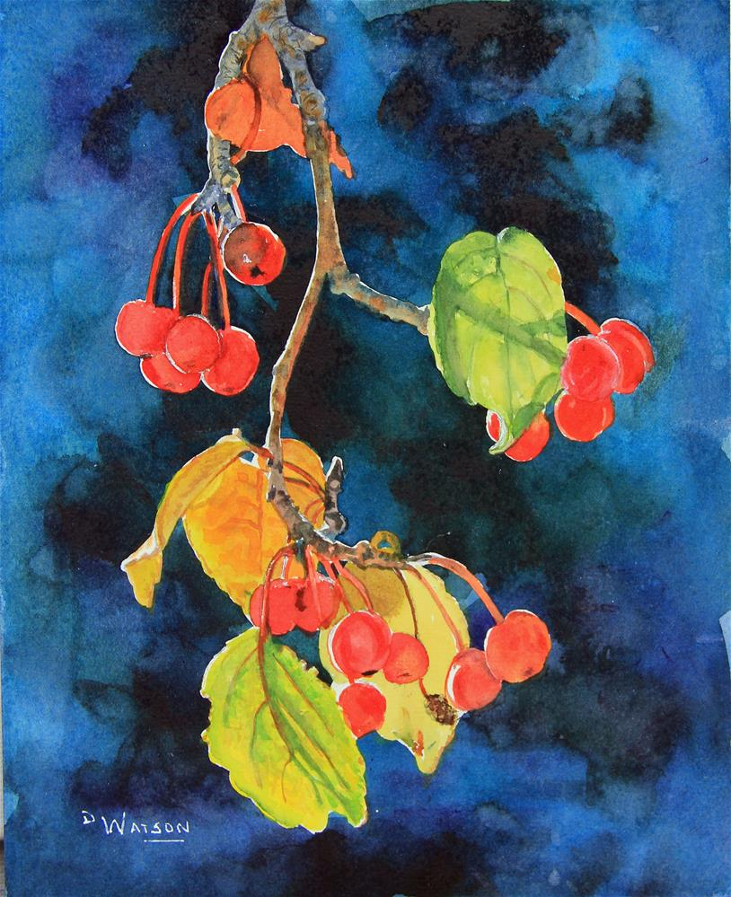"""Cherry Study"" original fine art by Deb Watson"