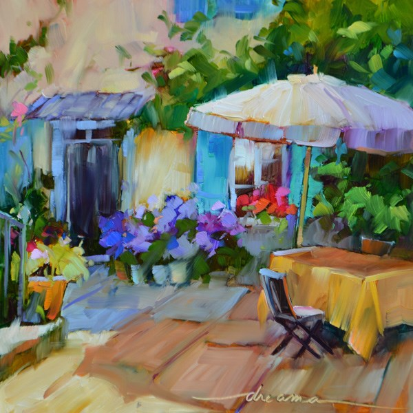 """""""The Fragrance of France"""" original fine art by Dreama Tolle Perry"""