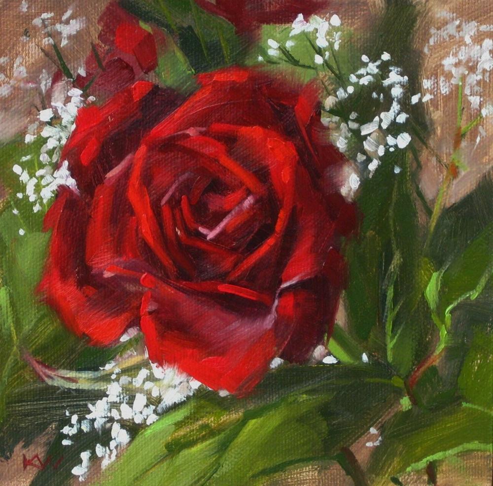 """""""Bouquet Rose"""" original fine art by Karen Werner"""