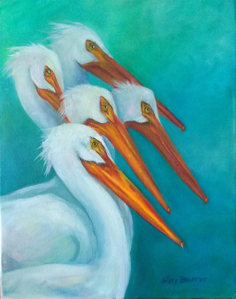 """Pelican Perch"" original fine art by Sissy Blakslee"