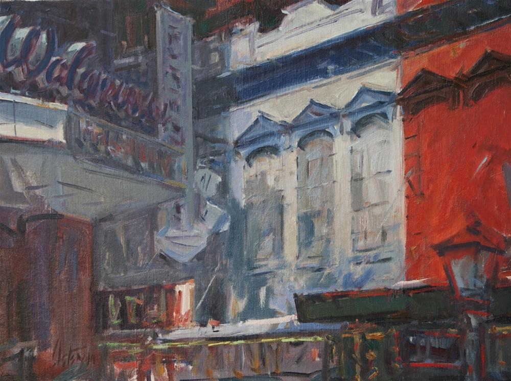 """Walgreens, New Orleans"" original fine art by Mike Peterson"