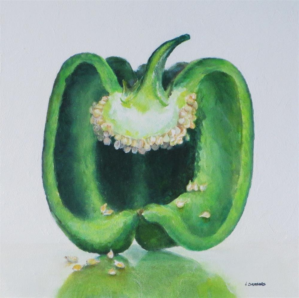 """Green Pepper"" original fine art by Linda Demers"