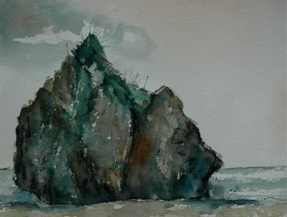 """Big rock, Potistika"" original fine art by Ulrike Schmidt"