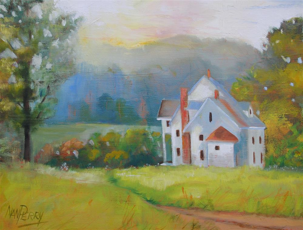 """White House"" original fine art by Nan Perry"