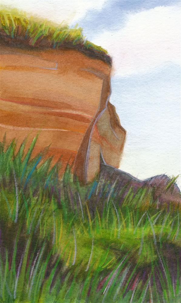"""""""Beach Cliff"""" original fine art by Mark Allison"""