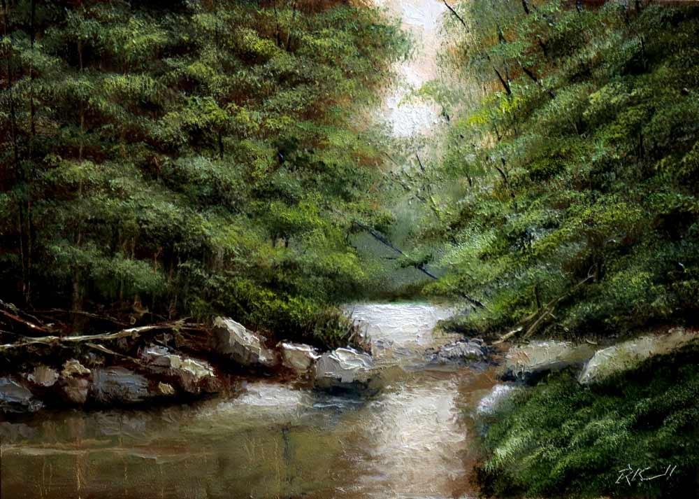 """The Narrows"" original fine art by Bob Kimball"