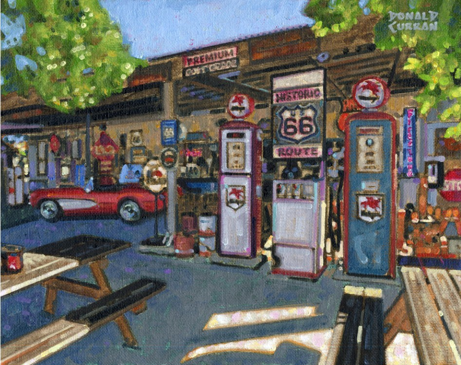 """Old Highway 66"" original fine art by Donald Curran"