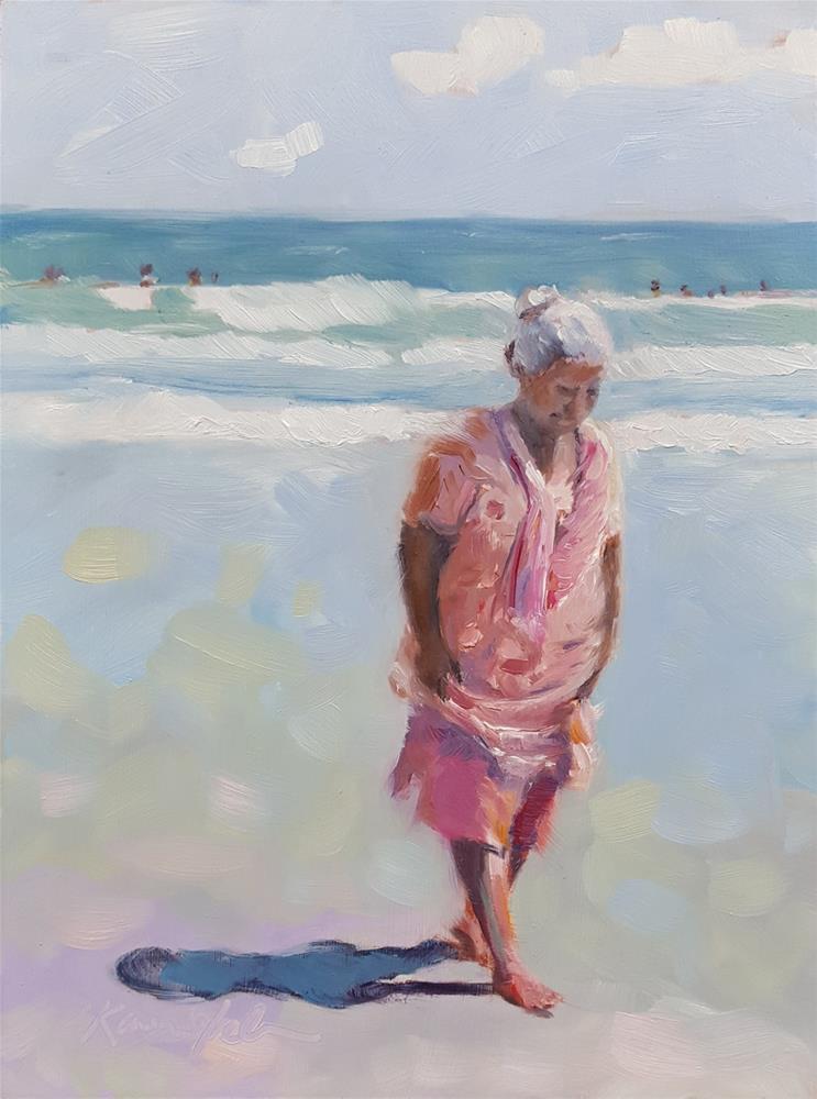 """Walking Meditation"" original fine art by Karen Weber"