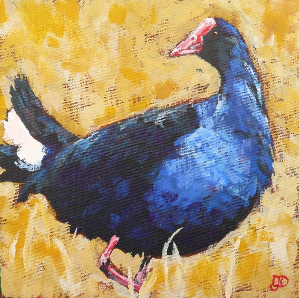 """""""Beautiful In Blue"""" original fine art by Leanne Owen"""