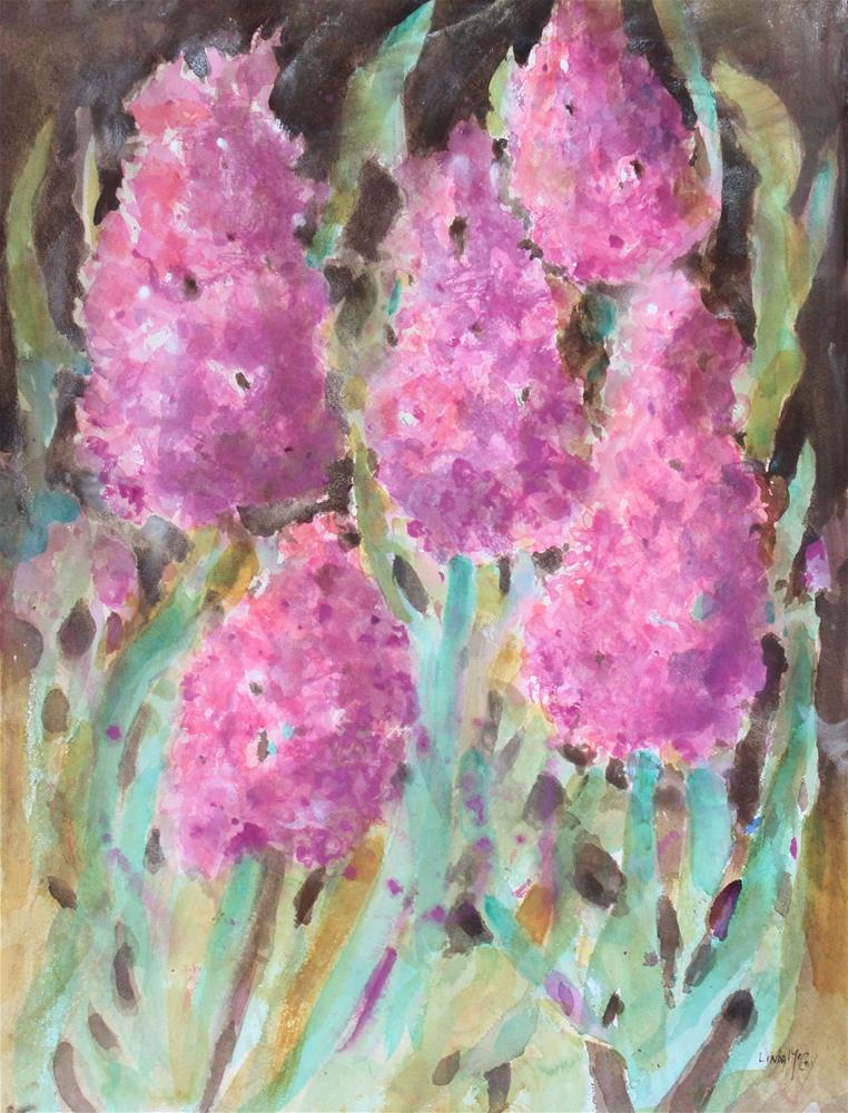 """Hyacinth Fantasy, Watercolor"" original fine art by Linda McCoy"