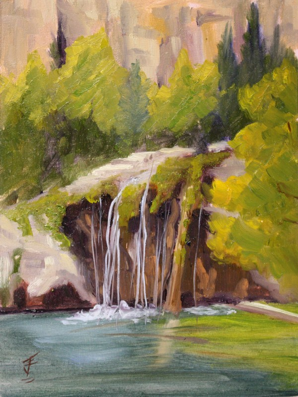 """Hanging Lake"" original fine art by Jane Frederick"