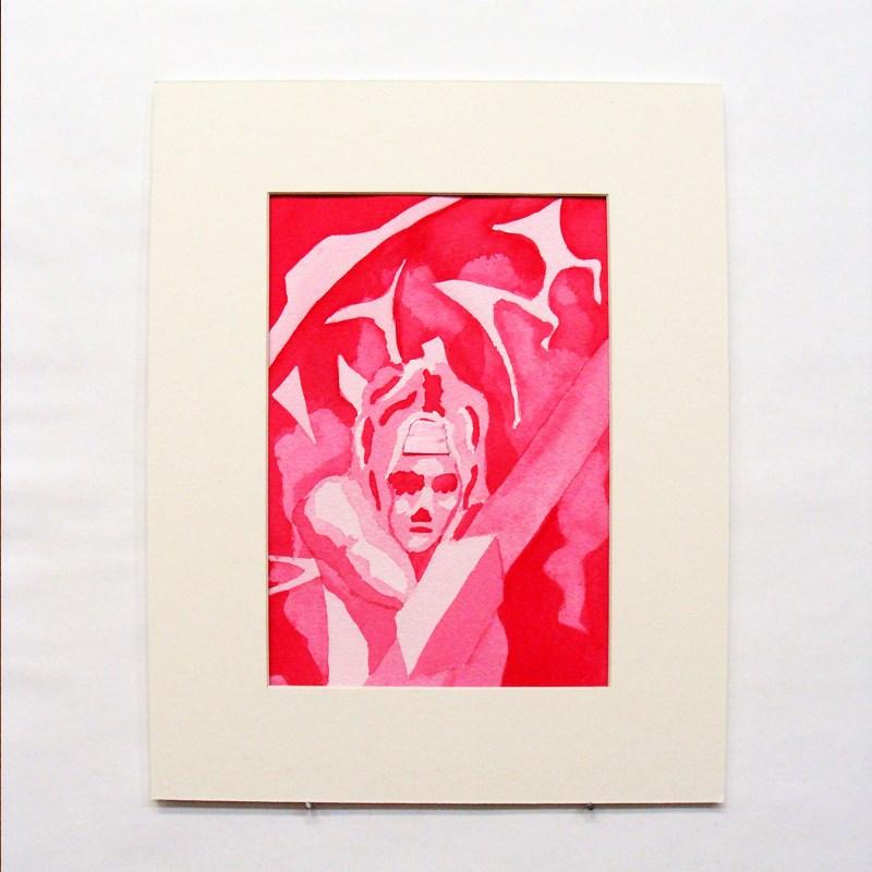 """""""Pink Amazon Warrior Study"""" original fine art by Bonnie Fillenwarth"""