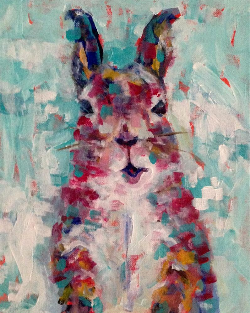 """Happy Hoppity"" original fine art by Molly Wright"
